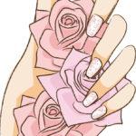 バラをつかむ手